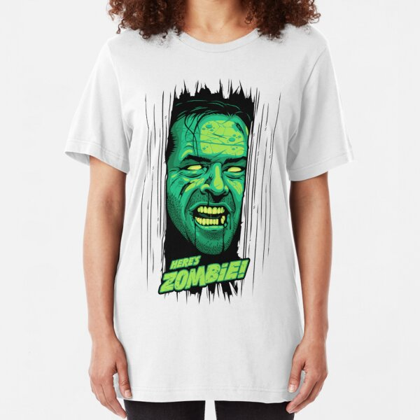 Here's Zombie! Slim Fit T-Shirt