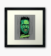 Here's Zombie! Framed Print