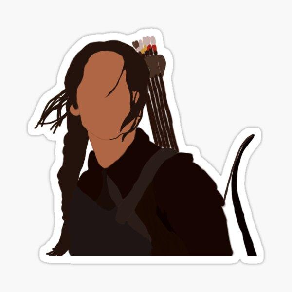 Katniss Everdeen Los juegos del hambre Pegatina