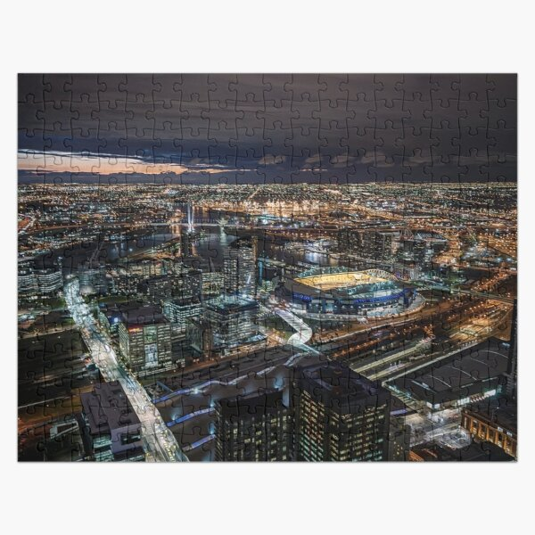 Melbourne at Night (fine colour marker) Jigsaw Puzzle