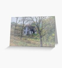 Empty Old Houses Greeting Card