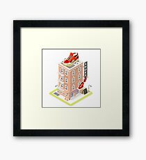 NYC Map Building Isometric Framed Print