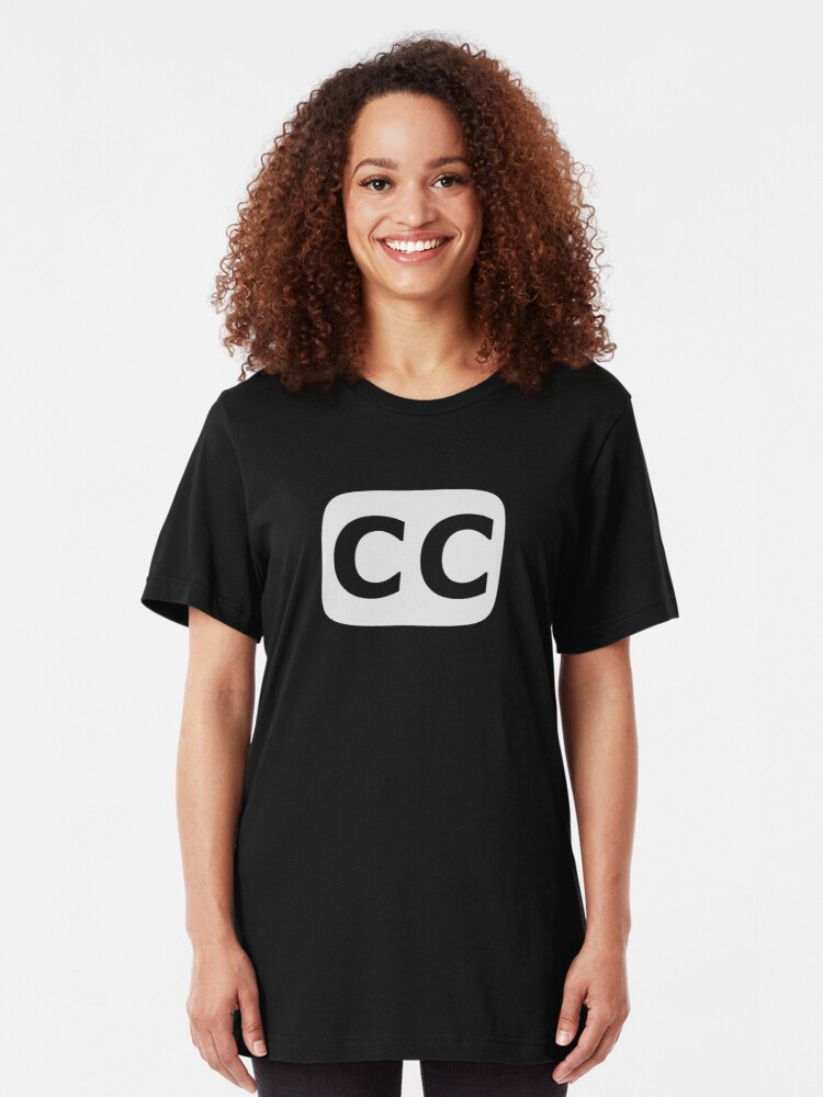 Alternate view of Closed Captioned (US) white Slim Fit T-Shirt