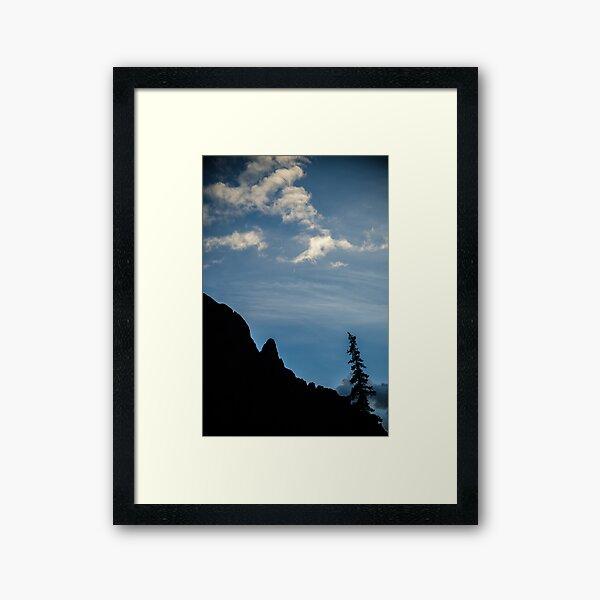 Silver Crescent Moon - Sangre de Cristo Wilderness, Colorado Framed Art Print