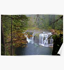 Lower Lewis Falls, Gifford Pinchot Forest, Washington Poster