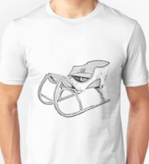 Won't You Guide My Sleigh Tonight? Vintage Christmas Sleigh Ride. Unisex T-Shirt