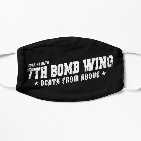 7th Bomb Wing Motto Death From Above Flat Mask