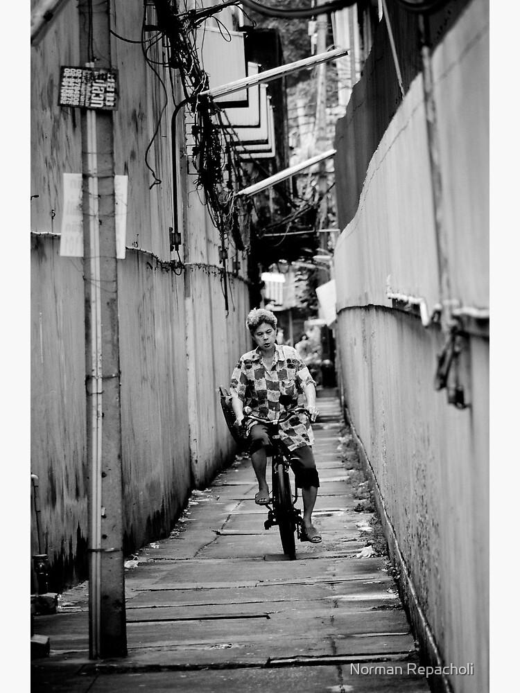 Bicycle Errands, Bangkok, Thailand by keystone