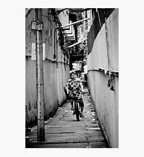 Bicycle Errands, Bangkok, Thailand Photographic Print