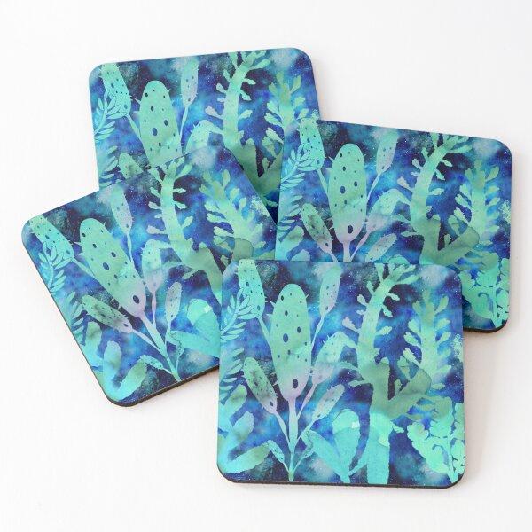 Watercolor cactus blue sky Coasters (Set of 4)