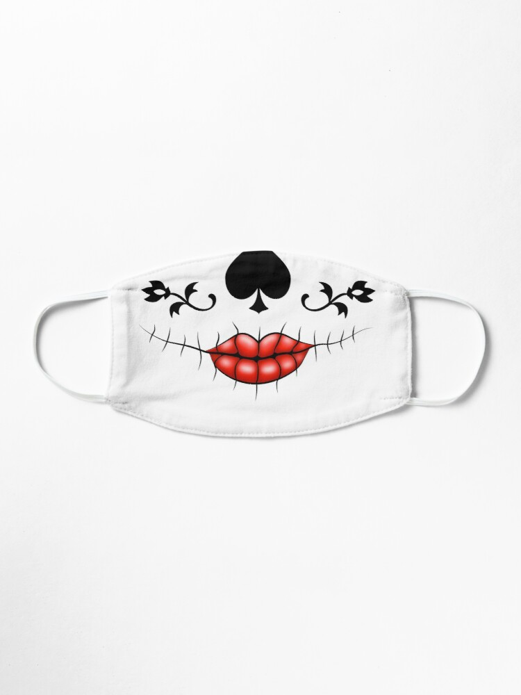 Alternate view of Show your elegance with a day of the dead inspired La Catrina Calavera sugar skull mask Mask