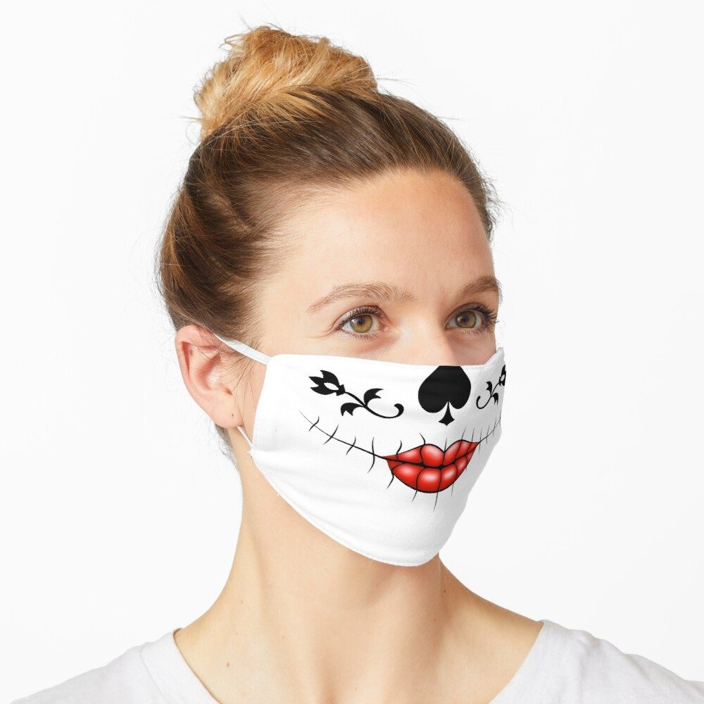 Show your elegance with a day of the dead inspired La Catrina Calavera sugar skull mask Mask