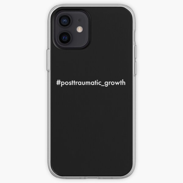 post-traumatic growth mental heath awareness hashtag on black iPhone Soft Case