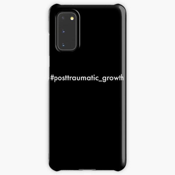 post-traumatic growth mental heath awareness hashtag on black Samsung Galaxy Snap Case