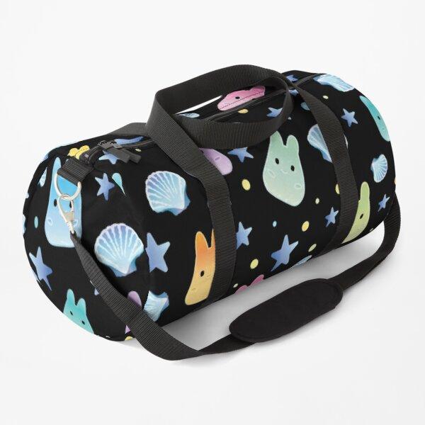 Bunny Waves Black Duffle Bag