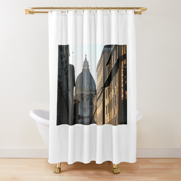 Sunset over the Vatican Shower Curtain