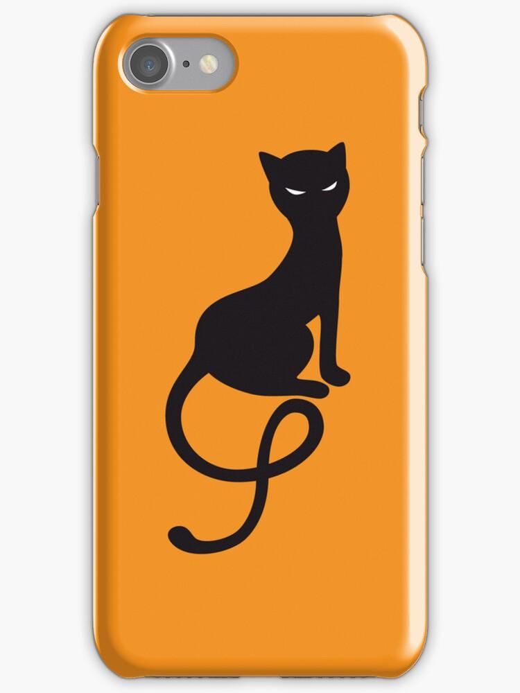 Gracious Evil Black Cat Halloween  by Boriana Giormova