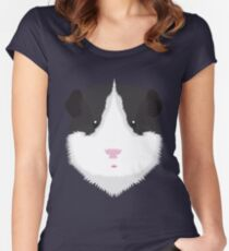 Black and White Guinea Pig Women's Fitted Scoop T-Shirt
