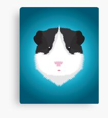 Black and White Guinea Pig Canvas Print