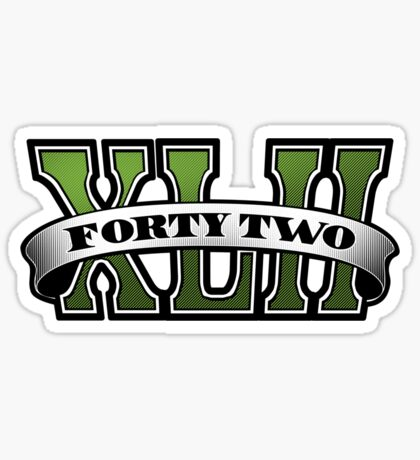 Grand Theft 42 Sticker