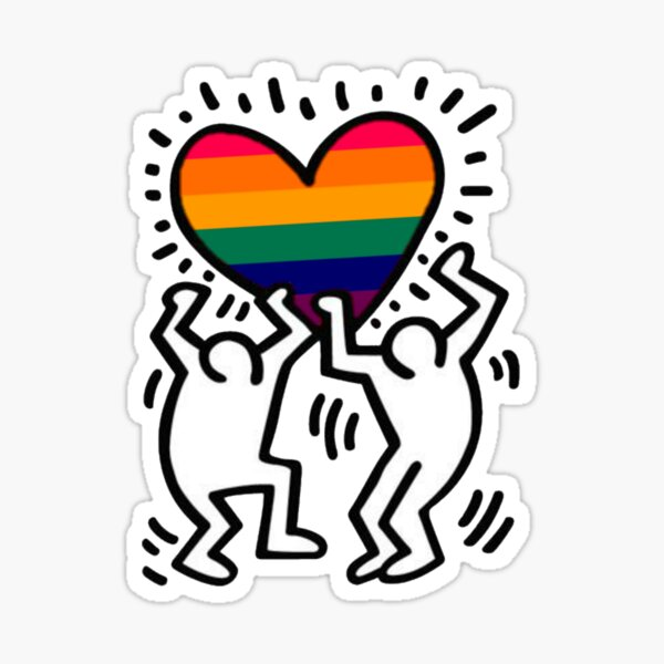 Keith Haring les amants gays Sticker