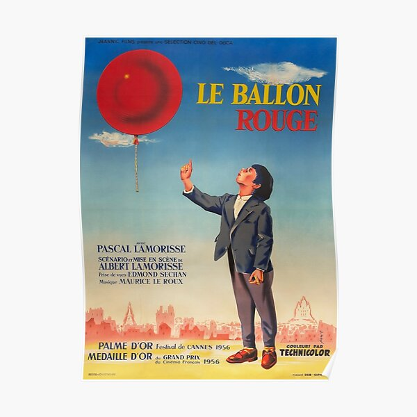 The Red Balloon - Vintage French Movie Poster Poster