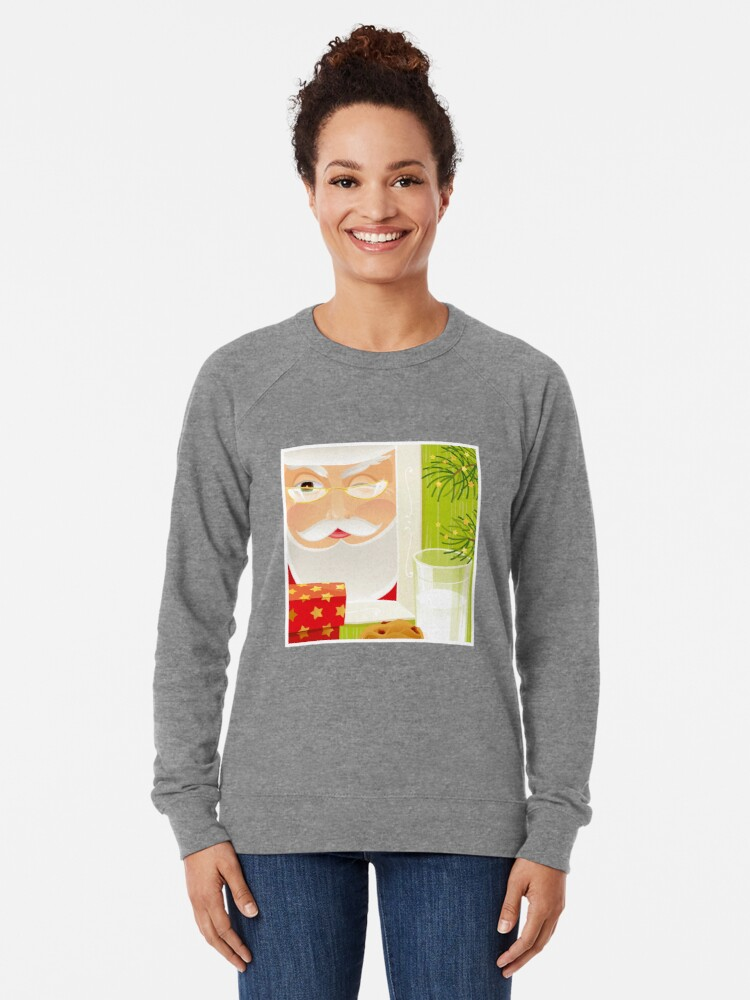 Alternate view of Santa!.. Lightweight Sweatshirt