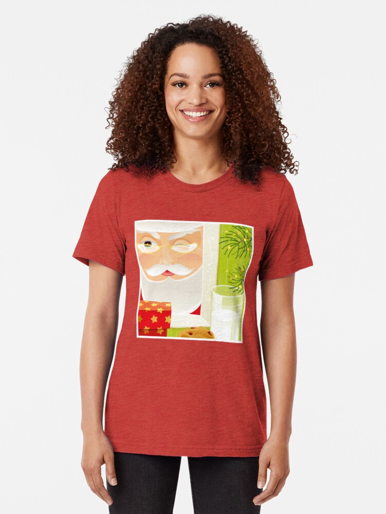 Alternate view of Santa!.. Tri-blend T-Shirt