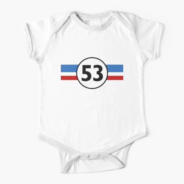 Herbie 53 Classic Racing Car 1963 Logo #2 Short Sleeve Baby One-Piece