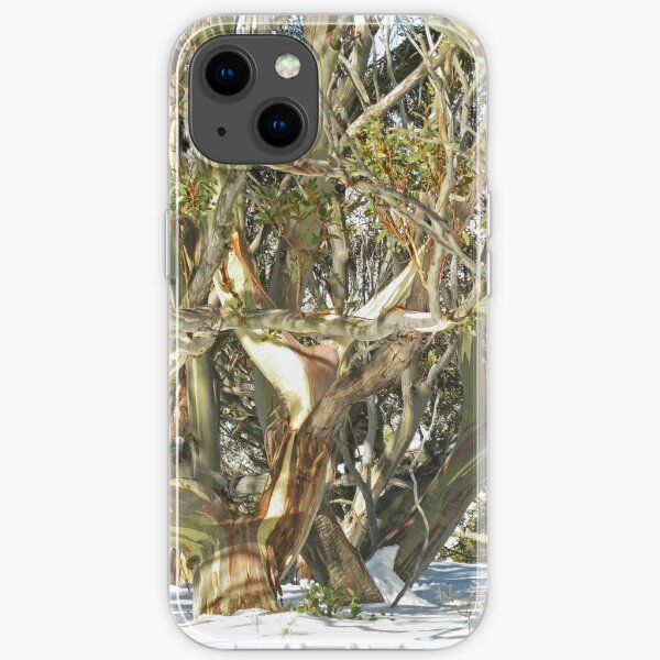 Colours of an entwined Snow Gum iPhone Soft Case