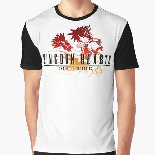 Sora - Kingdom Hearts Chain of Memories Final Fantasy Crossover Graphic T-Shirt
