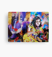 Paper collage- Reclining Woman Canvas Print