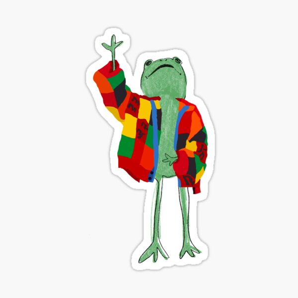 hs frog and the today show cardigan Sticker