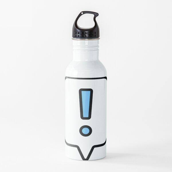 Punto de exclamación Botella de agua