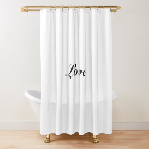 Love word text Shower Curtain