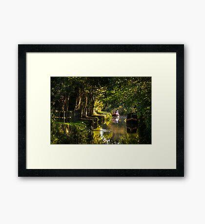 Chesterfield Canal at Kiveton Framed Print