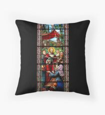 Stained Glass Art Extravaganza: Part Two Throw Pillow