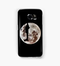Military Helicopter Against Full Moon Samsung Galaxy Case/Skin