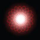 Hypnotic Red Spirals by pjwuebker