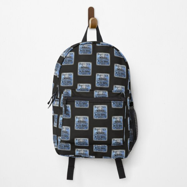 Mightier Than the Waves of the Sea is His Love For You Religious Nautical Backpack