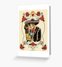 Tattoo greeting cards redbubble mexican couple greeting card m4hsunfo