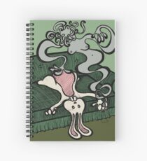 Teddy Bear And Bunny - Dream Girl Spiral Notebook