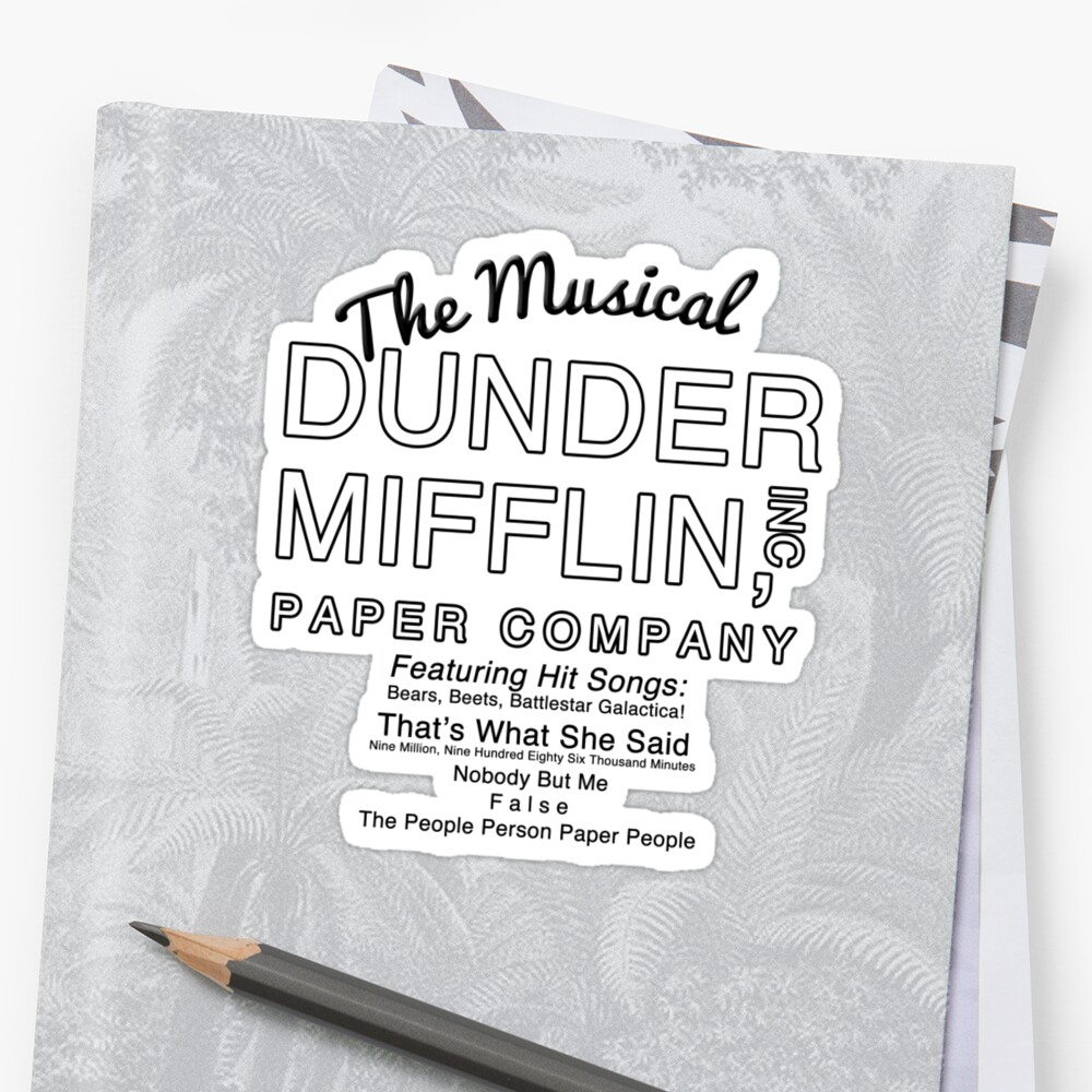 Dunder Mifflin, Inc (The Musical) by Harry James Grout