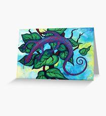 Caribbean Blue Lizard Greeting Card