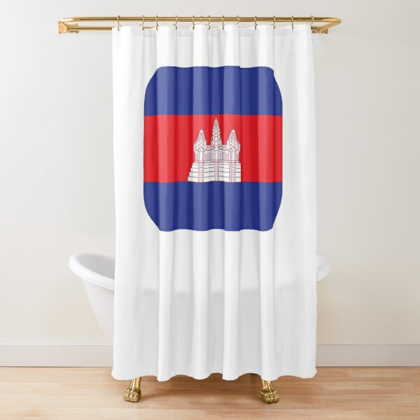 Cambodia Flag Cambodia Independence Day Gift for Proud Cambodian Shower Curtain