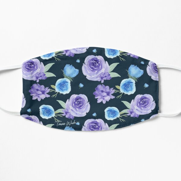 B's Purple and Blue Fowers Mask
