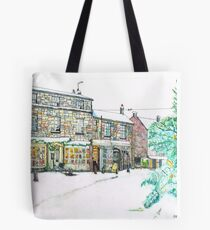 Broadway Snow Scene Tote Bag