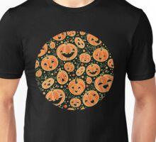 Fun Halloween pumpkins pattern Unisex T-Shirt