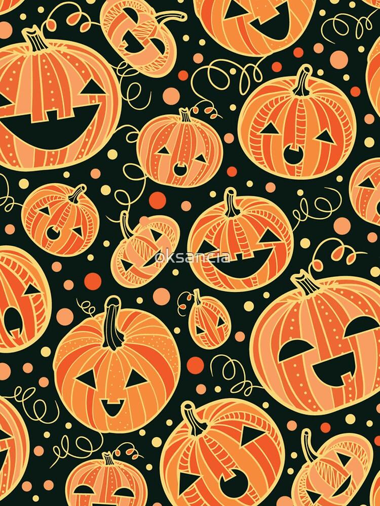 Fun Halloween pumpkins pattern von oksancia