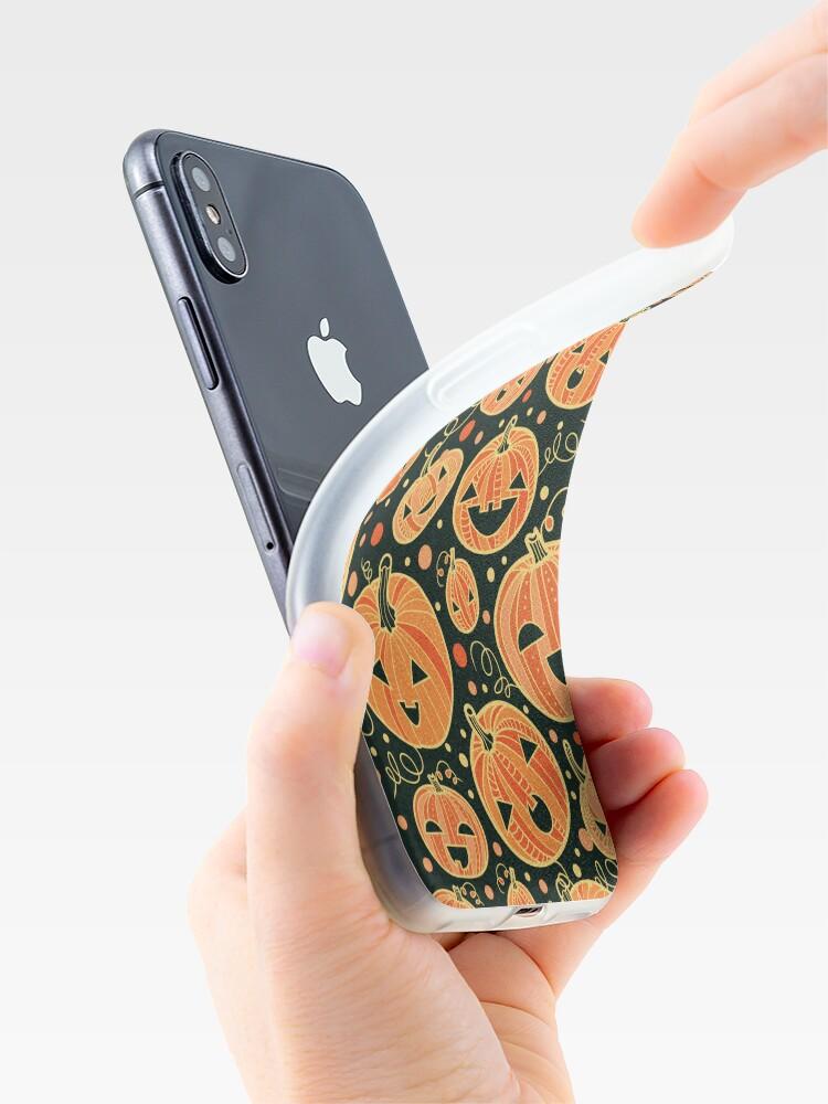 Alternative Ansicht von Fun Halloween pumpkins pattern iPhone-Hüllen & Cover